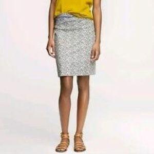 J. Crew Ikat Pencil Skirt